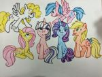 G1 ponies in G4 version by Imtailsthefoxfan