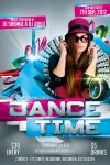 Dance Time Party Flyer Template by Shemul