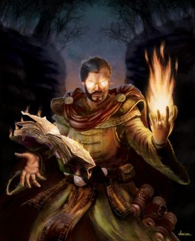 Fire Mage character card by DaCas