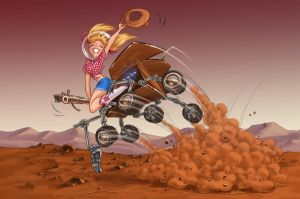 Mars Rover Rodeo by dagracey