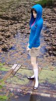 Jane Rafting in her White and Navy Penny Loafers by peerlesspenny