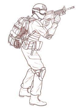 Modern soldier by ucchan