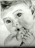 Baby Pencil Drawing by neeshma