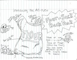 Flour-Sack Backpack by theRedbucket
