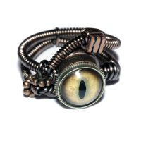 Steampunk Jewelry - Ring - Taxidermy glass Eye by CatherinetteRings