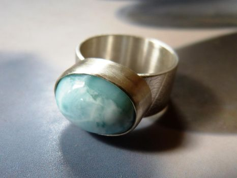 Larimar ring by Kreagora
