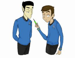 Spock and McCoy Coloured by ShinyShine13