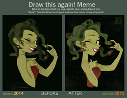 Draw This Again - Medusa - by DianaMaRble