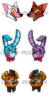 FNAF Stickers by Lokis-Doodles