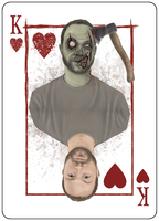 King of Hearts, Portraits of the Zombie Apocalypse by LogicalOperator