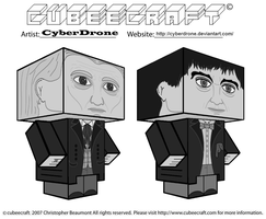 Cubeecraft - 1st and 2nd Doctor 'B-W' by CyberDrone