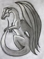 Charcoal Dragon by Lost-in-the-day