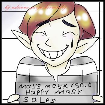 Happy Mask Salesman (arrested) by adriana4ever