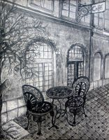 Tranquil Cafe by Ulli-Art