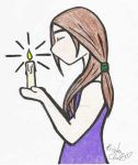 candle girl in color by PrincessSophie06