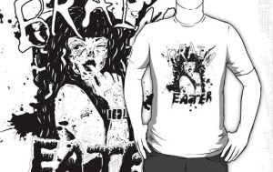 Brain Eater T-shirt by VickiBeWicked