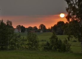 Sunrise in the countryside by RavensLane