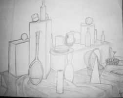 COLLEGE STILL LIFE 5 by phymns