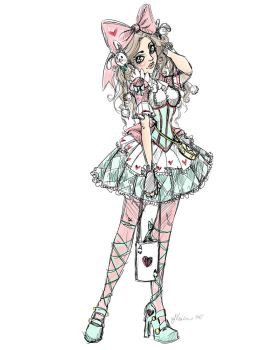 Pink and Blue Lolita by NoFlutter