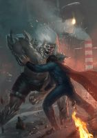 Superman vs Doomsday by Memed