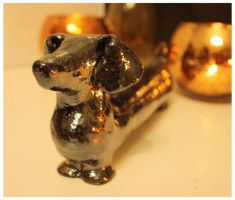 Ceramic dachshund jewellery-box III by nesdam