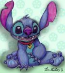 Disney's Stitch Fanart by tinanewtonart
