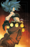 Leona-The King Of Fighters by HeavyMetalHanzo