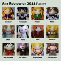 Sakky Summary of Art 2011 - Plushies by sakkysa