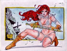 RED SONJA by RODEL MARTIN (09082015) by rodelsm21