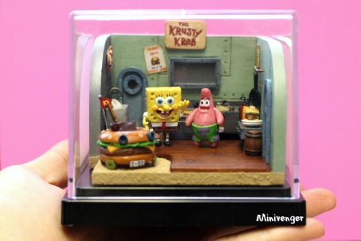 Krusty Krab kitchen diorama by minivenger