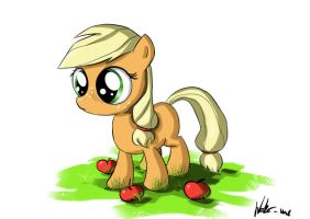 Filly Applejack by Neko-me