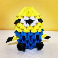 3D Origami Minion by OrigamiPanama