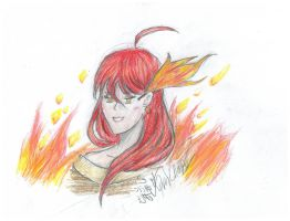 Girl of Flames by Immortally--Twined