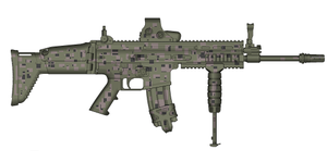 Custom Camo SCAR-L by trooperbeta