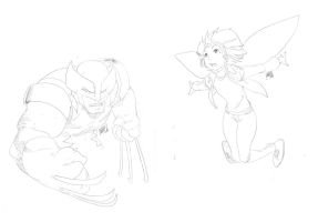 Wolverine a Pixie by theCHAMBA