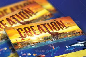 Creation Church Flyer and CD Template by loswl