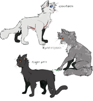 Some awesome Shadowclan cats by PenguinEatsCarrots
