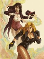 Zatanna and Black Canary by J-Garou