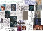 Sketchdump of 2014 by PhantomStalker