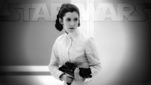 Carrie Fisher Princess Leia XLIV v3 by Dave-Daring