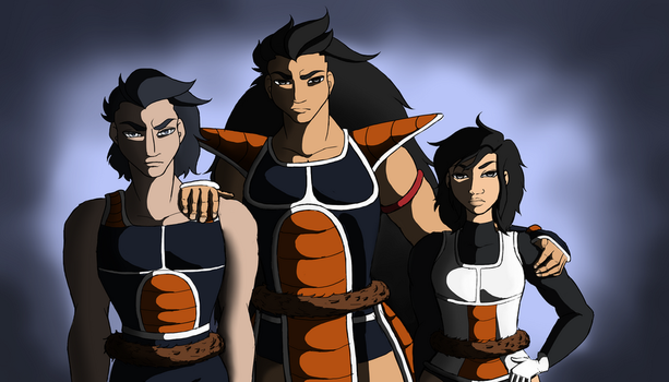 Saiyan Family by YukaTheDemon