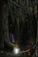 Into the dark forest - Wisp by sfogato
