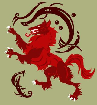 Celtic Wolf Rampant by FablePaint