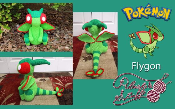 Flygon by PlushAndStuff