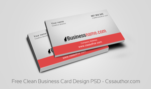 Free Clean Business Card Design PSD by cssauthor