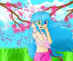 .: Melody of the blossom :. by Watery21