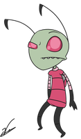 Zim (From Invader Zim) by ValerieOfDoom