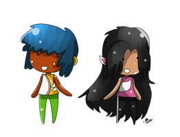 Request: Kimmi and Maia by BorderlineCloud