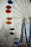 Ferris wheel in winter by Catouch