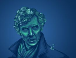 Sherlock - A Study In Blue by SelenaGuardi